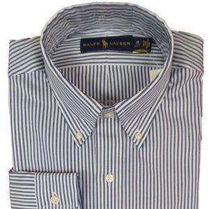 Polo Ralph Lauren Men's Dress Shirt Blue White